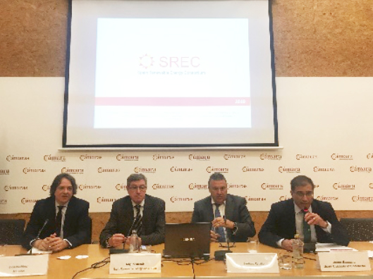 The actual President of the Consortium during his talk in the event organized by the Spanish Chamber