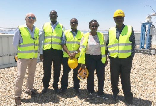 The General Secretary of the Consortium, Mr Javier de Riva, and the Kenyan delegation visiting one Spanish Renewable Energy Company